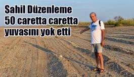 Sahil Düzenleme  50 caretta caretta yuvasını yok etti