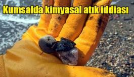 Kumsalda kimyasal atık iddiası