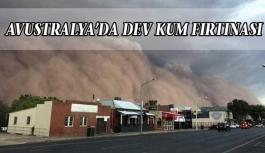 Avustralya'da dev kum fırtınası