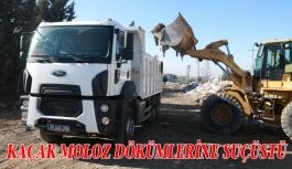 Bornova Belediyesi'nden  kaçak moloz dökümlerine suçüstü
