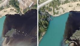 Fabrika atıkları Sır Barajı'nı siyaha boyadı!