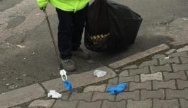 Maske ve eldiven atıklarını en az 72 saat bekletip çöpe atın!
