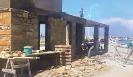 Gökçeada Belediyesi'nin kaçak inşa ettiği belirlenen yapılar mühürlendi!