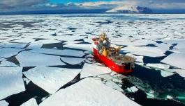 Güney Kutbu'nda dikkat çeken sıcaklık artışı
