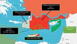 İşte Oruç Reis'in faaliyet sahasını gösteren harita