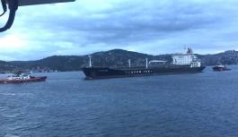 183 Metrelik tanker İstanbul Boğazı'nda sürüklendi!