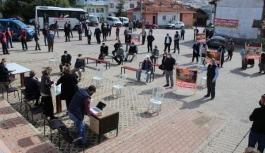 Mermer ocağı istemeyen Domaniçlilere Çevre ve Şehircilik Müdürlüğü'nden destek