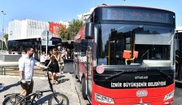 İzmir'de katlanır bisikletler otobüsleri...