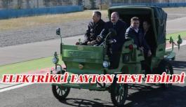 Bakan Varank yerli elektrikli faytonu test...