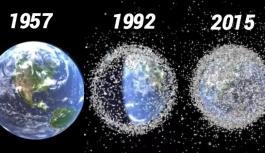 Uzayda oluşan çöp birikintisi uydulara zarar verebilir