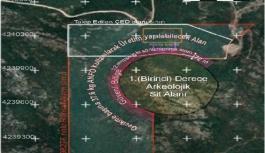 Urla'da 1. derece arkeolojik sit alanının...