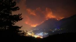 Dalaman'daki orman yangınından yürek yakan görüntüler