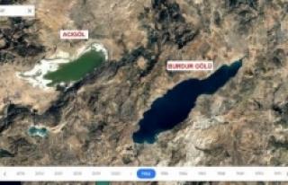 36 yıllık uydu fotoğrafları kuruyan gölleri ortaya...