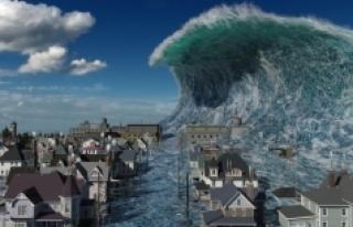 Yer çekimi dalgalarının sebep olduğu tsunamiler...
