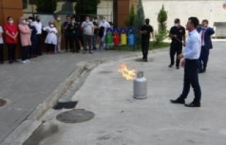 Ağız ve Diş Hastanesi personeline deprem ve yangın...