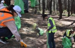 Çevre bilinci için harekete geçildi! Aydos Ormanı'nda...