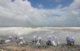Sri Lanka sahilleri plastik kar örtüsüyle kaplandı:...